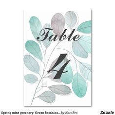 Find your wedding table cards on Zazzle. Card Table Wedding, Seating Chart Wedding, Wedding Table Numbers, Wedding Cards, Green Watercolor, Watercolor Leaves, Beige Wedding, Red Peonies, Green Table