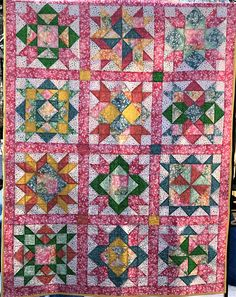 Your place to buy and sell all things handmade Baby Girl Quilts, Quilt Baby, Girls Quilts, Pink Leaves, Star Patterns, Beautiful Babies, Gift, Fabric, Handmade