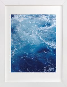 """""""Waving Blue"""" - Limited Edition Art Print by CaroleeXpressions in beautiful frame options and a variety of sizes. Photo Pillows, Mint Color, Blue Art, Custom Art, Shades Of Blue, Wall Art Prints, Illustration, Glass Art, Calming"""