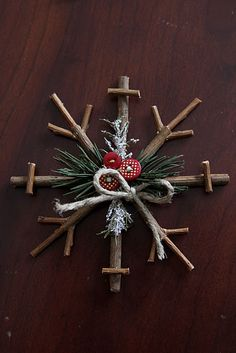 Rustic Snow Flake.  So cute!