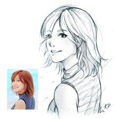 Apink_Ha-young_sketch by subaru01rins.deviantart.com on @DeviantArt  #hayoung #Apink #fanart #drawing #sketch #kpop