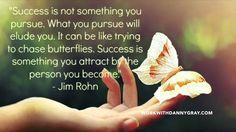 We do not pursue success.
