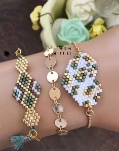 erstwhile jewelry, white gold bar necklace, bead bracelet meaning - Beading Light holder - Schmuck Beaded Crafts, Jewelry Crafts, Handmade Jewelry, Seed Bead Jewelry, Bead Jewellery, Women's Jewelry, Seed Beads, Beaded Jewelry Patterns, Bracelet Patterns