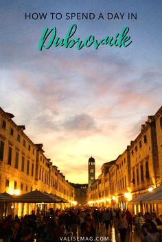 One Perfect Day in Dubrovnik, Croatia. How to spend one day and see Dubrovnik's top sights.