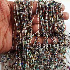 Garnet Fine Gemstone Bracelet with Black Spinel Balls micro Faceted