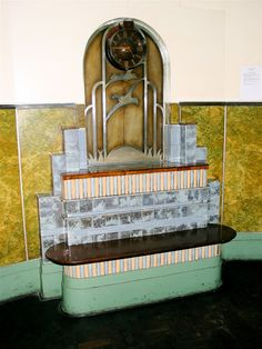 We still have fantastic Art Deco, here is a bench, Durban, South Africa Art Deco Living Room, Art Deco Bedroom, Art Nouveau, Durban South Africa, Manhattan Hotels, City Gallery, Tower Building, Art Deco Buildings, Art Deco Furniture