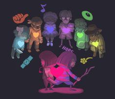 Undertale- human souls - rokkanart on tumblr