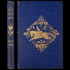 1859 SIGNED 1ST FLYERS OF THE HUNT JOHN MILLS FOX HUNTING RARE FINE BINDING DOGS