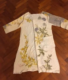 Terrie ~.~ smiling.....: Slow fashion - natural printed outfit 植物印染慢活時裝