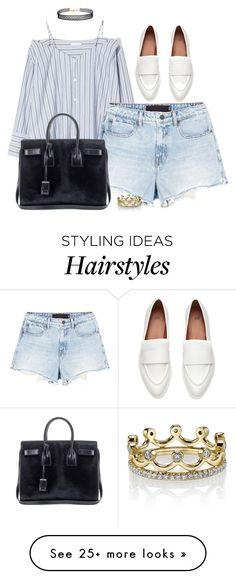 """""""Sin título #365"""" by silviasalo on Polyvore featuring Alexander Wang, Humble Chic, Erica Courtney and Yves Saint Laurent"""