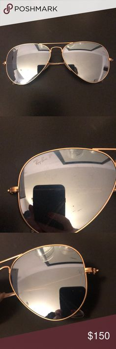 Ray Ban Aviators Gold Pre loved. All signs of wear are shown in the photos. Selling for a friend :) Ray Ban Accessories Sunglasses