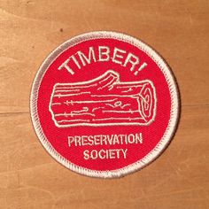 LOG PATCH by timberps on Etsy