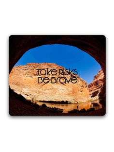 Madanyu - Take Risks Be Brave Typography - Mousepad - For Gamers - HD Print