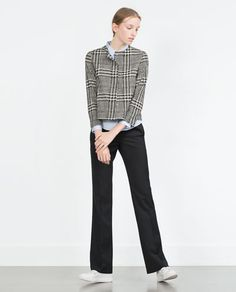 ZARA - MUJER - BLAZER APLIQUE CUELLO Zara Looks, Herringbone Blazer, Winter Trends, Zara United States, Blazers For Women, Zara Women, Get Dressed, Color Pop, 2016 Winter