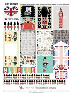 resize for project life cards. Source: I See London Planner Printable – Victoria Thatcher