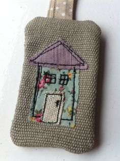 Items similar to House free motion embroidery keyring on Etsy Freehand Machine Embroidery, Free Motion Embroidery, Machine Embroidery Applique, Applique Patterns, Free Motion Quilting, Cross Stitch Embroidery, Hand Embroidery, Sewing Art, Sewing Crafts