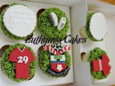 Southampton FC cupcakes ~ for Brian at Christmas