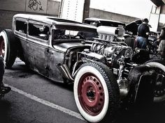 Blown Rat Rod Sedan.