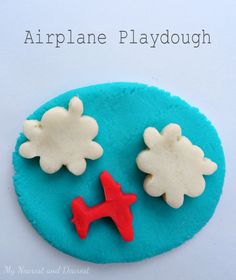 Airplane Playdough. Makes a fun and frugal DIY gift.