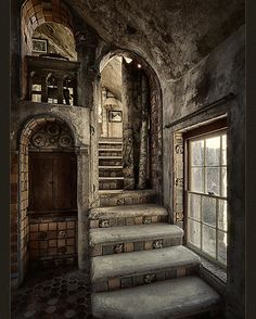 Fonthill Castle Stairwell poster by Robert Fawcett. Our posters are produced on acid-free papers using archival inks to guarantee that they last a lifetime without fading or loss of color. All posters include a Abandoned Mansions, Abandoned Buildings, Abandoned Places, Abandoned Library, Old Buildings, Rustic Entryway, Entryway Decor, Stairway To Heaven, Beautiful Architecture