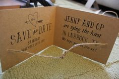 Free DIY printable save the date wedding cards/invitations.