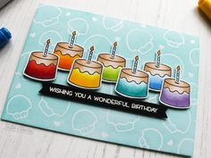 Rainbow Treats | wishing you a wonderful birthday | Paper, Ink and Colour: Tallie's Corner by Tallie
