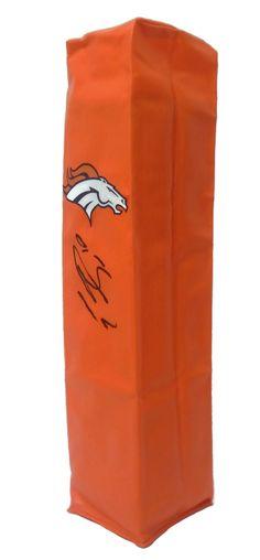 Emmanuel Sanders Autographed Denver Broncos Full Size Football End Zone Touchdown Pylon, Proof