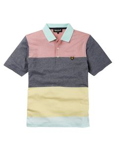 Lyle and Scott Wide Striped Polo Shirt 7ee139af157bf