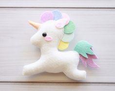 Unicorn Felt Ornament Unicorn Baby Nursery Decor Christmas Ornament Decor