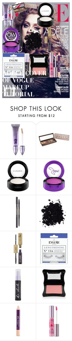 """ADELE COVER OF VOGUE MAKEUP TUTORIAL"" by oroartye-1 on Polyvore featuring beauty, Urban Decay, MAC Cosmetics, Lancôme, tarte, eylure, Illamasqua and 18"