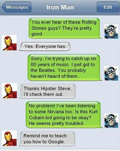Why Captain America Shouldnt Text Message Iron Man - TechEBlog