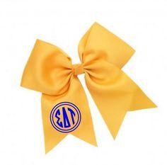 Sigma Delta Tau Monogram Hair Bows from GreekGear.com