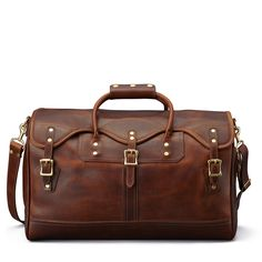 Leather Duffle/Duffel Bag Carry-On - Small, Distressed Leather | J.W. Hulme Co.