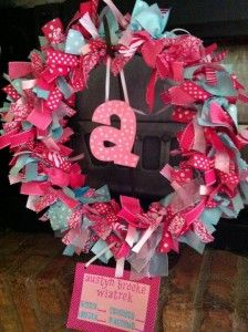 Baby Annoucement Wreath to Hang on Hospital Door or Front Door. Very cute!