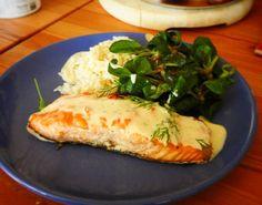 Todays #Lunch - #grilled #Salmon  wilh #lemon #cream #sauce - #foodporn #autumn #sunday