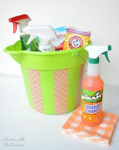 Organized Cleaning supplies for easy access and speedy cleaning.