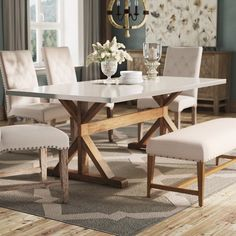 Dining Table - Buy New Furniture The Simple Way Through The Use Of These Guidelines Dinning Table Design, Marble Top Dining Table, Dining Table With Bench, Dinning Room Tables, Solid Wood Dining Table, Dining Table In Kitchen, Stainless Steel Dining Table, Dining Sets, Farm Style Dining Table