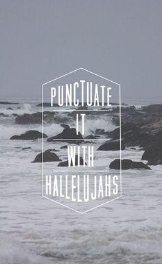 Punctuate.