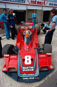 Hans Joachim Stuck - Brabham Alfa Romeo - Silverstone 1977 ~ I didn't know that the master of the BMW had driven in F1.