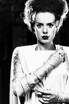 Elsa Lanchester as the Bride of Frankenstein.