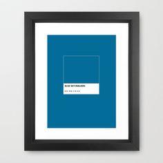 Blue Sky(walker) Framed Art Print by Invasione Creativa - $34.00