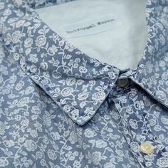 Universal Works Worker Shirt (Blue Flower)