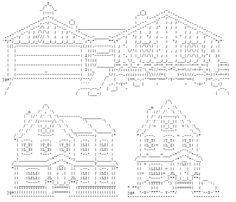 Dibujos de tres casas en ASCII                                                                                                                                                                                 Más House Emoji, Cat Text, Simple Anime, Ascii Art, Letter T, Home Art, Cool Photos, Typography, Notes