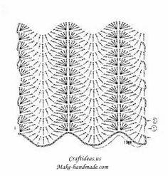 crochet beauty scarf for girl, crochet pattern crochet long scarf for women with beautiful wave pattern &nb Crochet Ripple, Crochet Diagram, Tunisian Crochet, Crochet Chart, Learn To Crochet, Crochet Motif, Free Crochet, Crochet Lace, Crochet Stitches Patterns