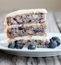 Moist Blueberry Cake with Light Lemon Icing - http://iadorefood.com/recipes/moist-blueberry-cake-with-light-lemon-icing/