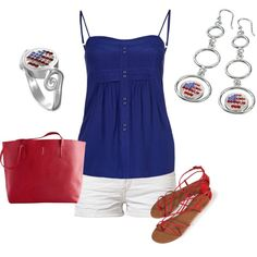 """Happy 4th of July!"" by jewelpop on Polyvore"