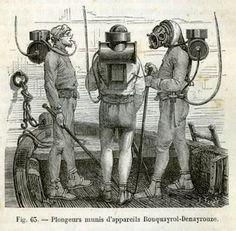 diving gear Rouquayrol