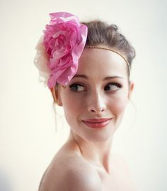 Brilliant Raspberry gold-toned hair wrap with large flowers, Statement Wedding Hair Flower - The Cosette Hair Wrap by SerephineBridal on Etsy https://www.etsy.com/listing/210585028/brilliant-raspberry-gold-toned-hair-wrap