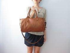 Rennes leather duffel bag