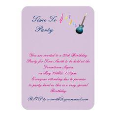 30 th Birthday party invitation